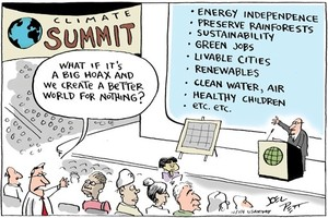 Climate Summit Cartoon