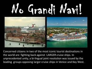 No Grandi Navi!