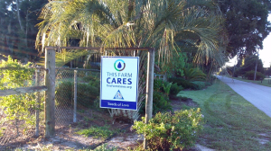 CARES recognition sign posted at Seeds of Love