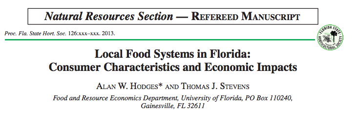 Local Food Systems Research